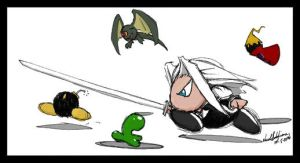 Sephiroth and Friends by NikaTallen