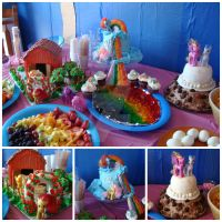 My Little Pony: Friendship is Magic CAKE collage by the-sugar-goddess