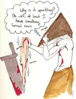 Pyramid Head meets Edward by stitched-patchez