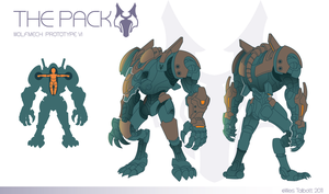 The Pack: Wolf Mech by WesTalbott