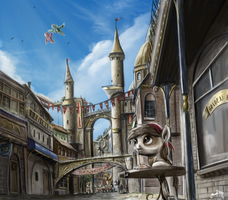 [Commission] The Streets of Canterlot by turbopower1000