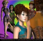 Freebie Second Skins for Poser and DAZStudio by FractalBee
