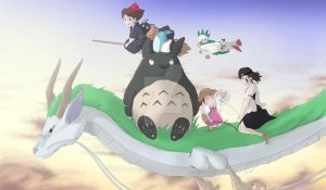 Ghibli Playmat Design by ccayco