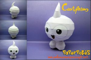 Castform - Offical picture by Toshikun