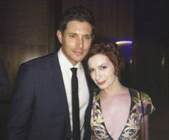 Jensen and Felicia on Supernatural 200th Ep party by FeliDayck
