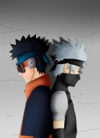 Kakashi and Obito: I miss you by freaky135