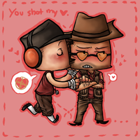 TF2 - You shot my heart by Marikuishiyutaru