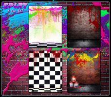 Splat Backgrounds by cosmosue