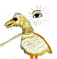 Golden Gooseyswan and the all seeing eye by HCShannon