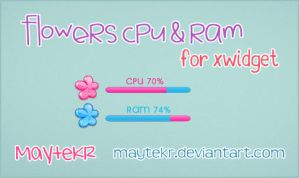Flowers CPU-RAM for XWidget by MayteKr