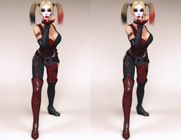 Harley Blowing a Kiss v2 by Frankstar86