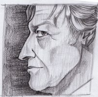 Third Doctor Sketch by Resident-Bishounen
