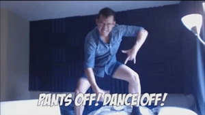 Pants Off Dance Off Gif by CrazyCrocuta