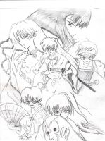 Inuyasha sketch Fan art by Amazair