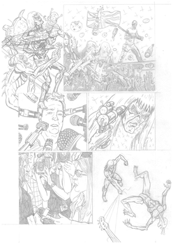Iron Maiden page 22 pencils by DarrenEmond