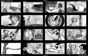 Plastic Man Storyboards by CrackpotComics