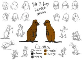 Mr. and Mrs. Beaver by GeebMachine
