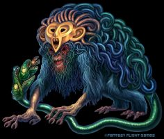 Gorgon for Cosmic Encounter by feliciacano