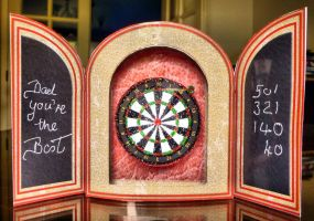 Inside view of Dartboard Fathers Day Card by blackrose1959