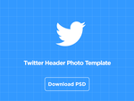 Twitter Header Photo Template PSD Download by Draward