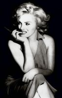 Marilyn with pen by Stanbos