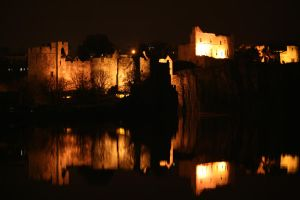 Chepstow Castle's Flood Lights by Scooby21