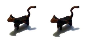 Plasticine cat 3D - stereogram by JaBoJa