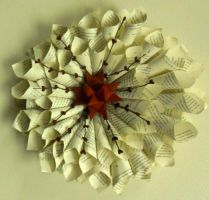 German Star Book Page Cone Wreath by staceysmile