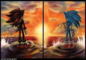Sonic and Shadow by LeonStar123