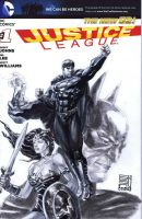 Justice League Sketchcover by agussumantri