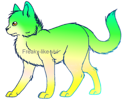 Green Cat Adopt (2 Points) by Firestar999