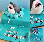 Commission: Shark Cake by cakecrumbs
