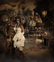 steampunk train by overlord-costume-art