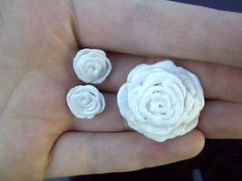 Rose hair clip and earrings by llalore