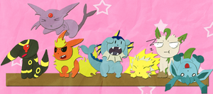 Opposite Eeveelutions by Burrii