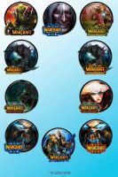 World of Warcraft Icon Pack by kraytos