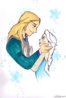 Elsa and Sabre by larissakathryn95