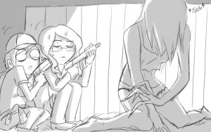 when me and Mily play L4D by RukiexRamen