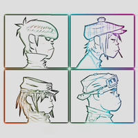 Gorillaz white color. by Dekuscrub007