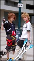 Sora and Roxas by kh2kid