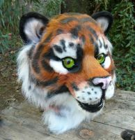 Realistic tiger head by LilleahWest