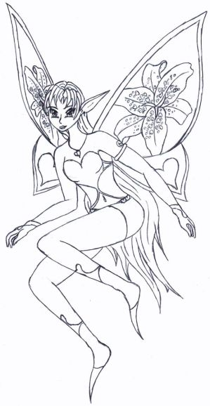 Valentine Fairy Lineart