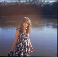 Mary on the river by Elipa