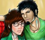 Daria and Trent colored by theELFknownasErinlee