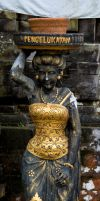 Statue in the Hindu tempel by dottys-friend