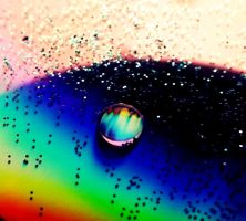 Colourful Water Drop.. ! by oOFallenAngellOo