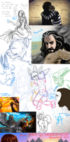 Sketchdump 12-2013 by Merrinella