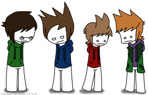 Eddsworld as Cry dudes by rcKEY