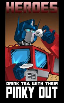 HEROES DRINK WITH THEIR PINKY by wordmongerer