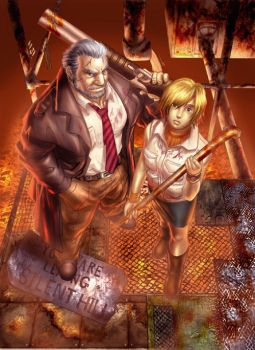Old Silent Hill..colored by njay